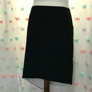 Worthington Black and White High Low Pencil Skirt